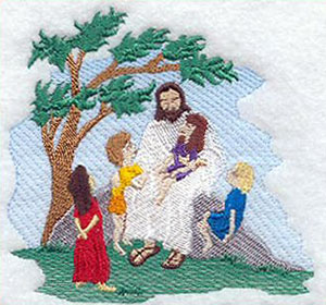 Depiction of Jesus with children